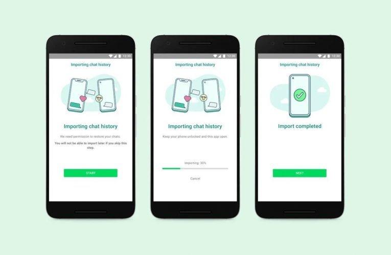 WhatsApp vous permet de migrer des conversations entre Android et iPhone